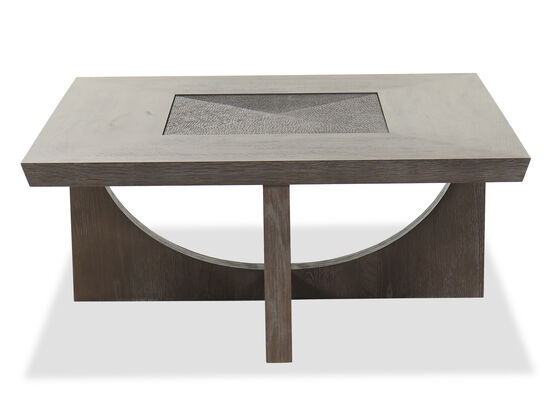 Transitional Square Cocktail Table in Smoky Arabica