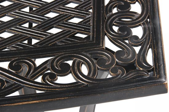 Lattice Patterned Transitional Rectangle Tablein Black