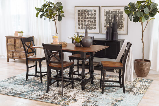 """Traditional 42"""" X-Back Bar Stool in Brown"""
