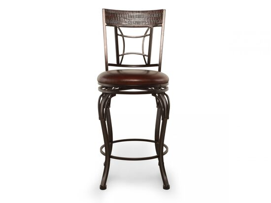 "Traditional 42"" Swivel Bar Stool in Dark Chestnut"