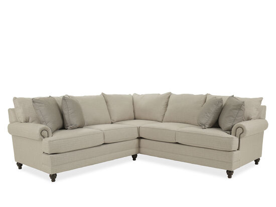 Two-Piece Casual Sectional in Beige