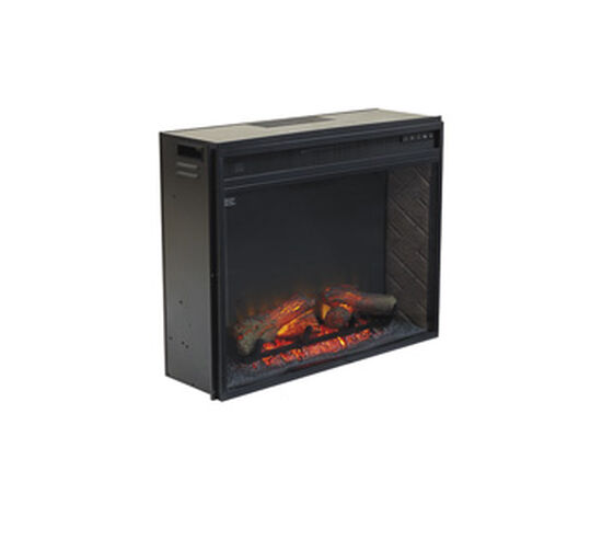 "24"" Contemporary Infrared Fireplace Insert in Black"