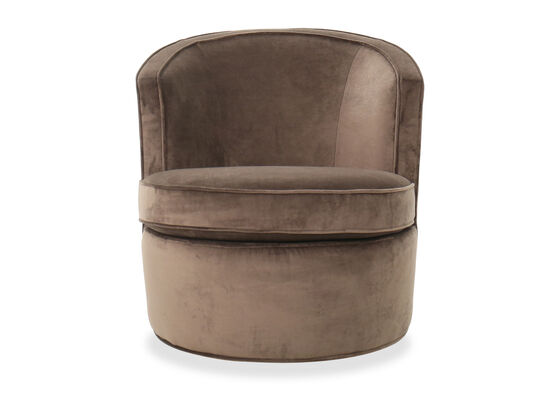 """29"""" Contemporary Swivel Accent Chair in Brown"""
