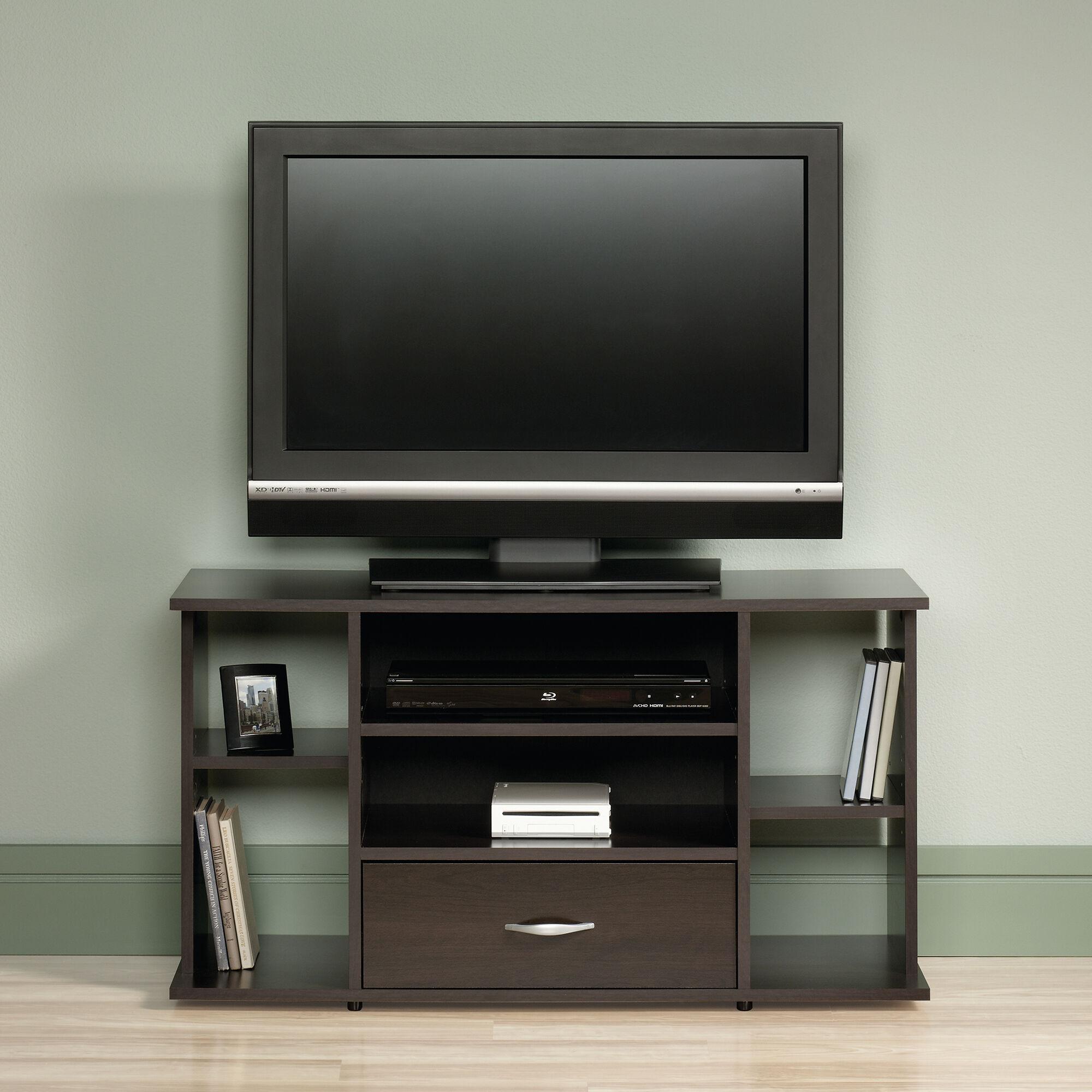 Adjustable Shelf Casual Panel Tv Stand In Cinnamon Cherry Mathis