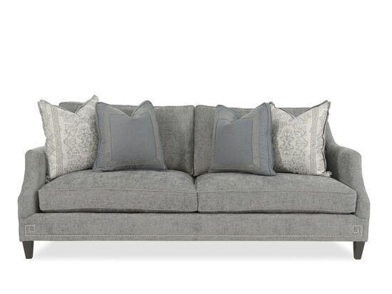 "Nailhead-Accented 89"" Sofa in Gray"