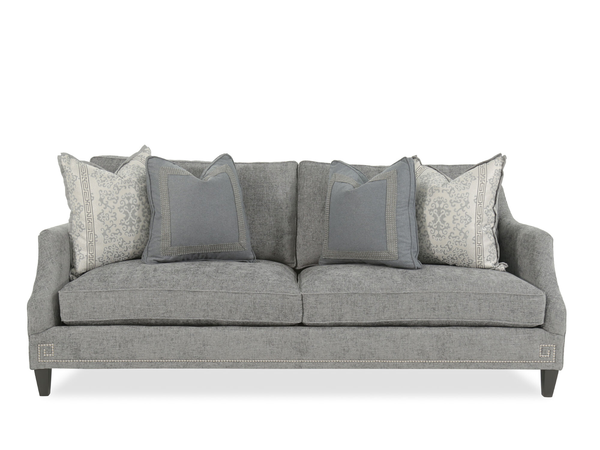 Images Nailhead Accented 89u0026quot; Sofa In Gray