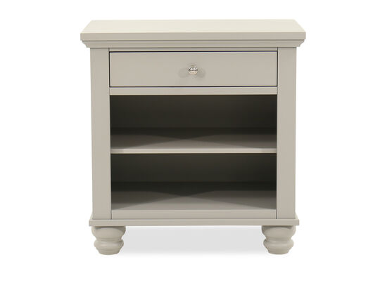 "29"" Casual One-Drawer Nightstand in Gray"