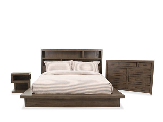 Three-Piece Contemporary King Bed Set in Graystone
