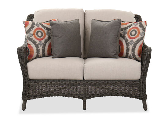 Contemporary Patio Loveseat in Dark Gray