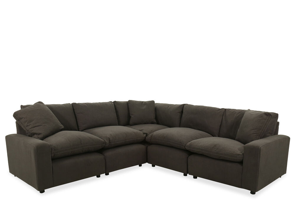 Five Piece Contemporary Sectional In Charcoal Mathis Brothers Furniture