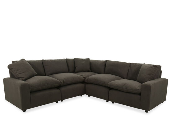 Five-Piece Contemporary Sectional in Charcoal