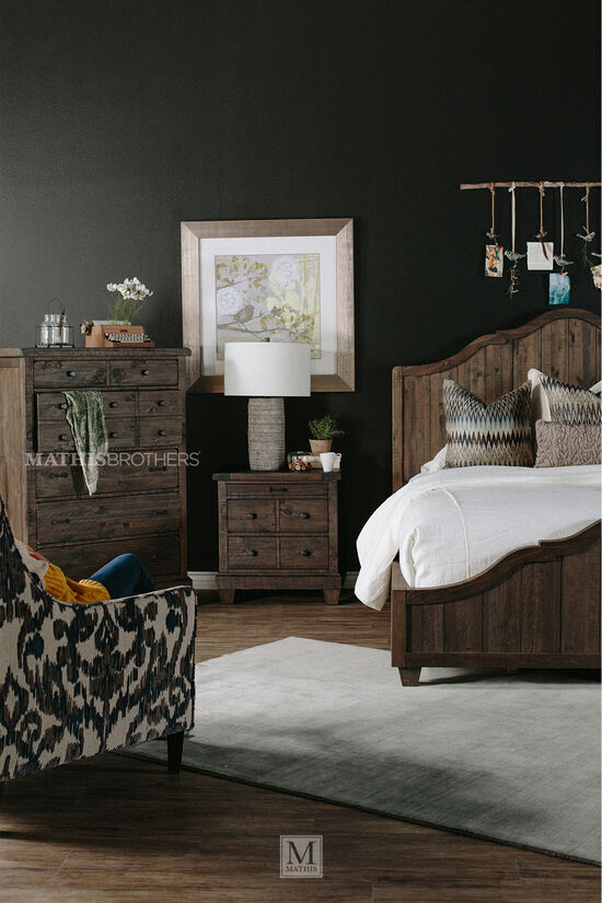 Four-Piece Solid Wood Bedroom Set in Natural Umber