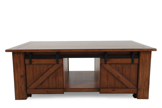 Lift-Top Traditional CocktailTable in Brown