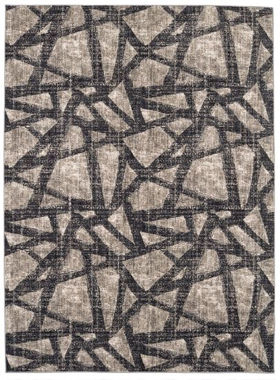 "Transitional 5' 3""x7' 10"" Woven Rectangle Rug in Dark Linen"