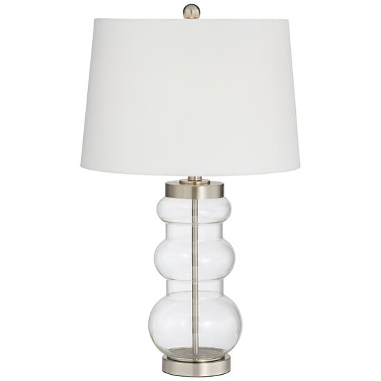 Accordion Glass Lamp in Clear