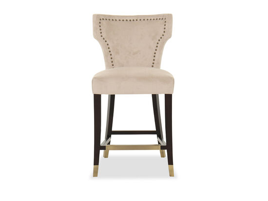 Contemporary Bar Stool in Beige