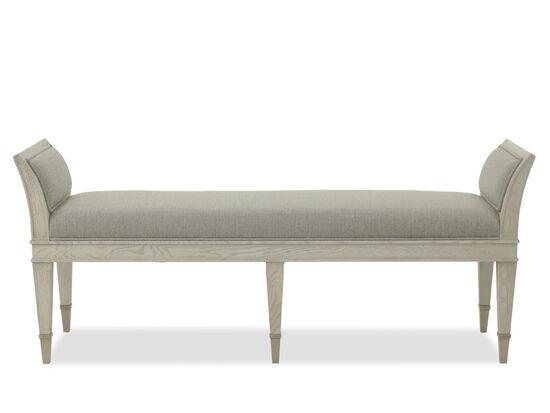 """Modern 61"""" Bench in Gray"""