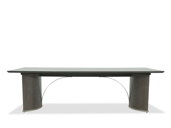 "Modern 44"" Arc Pedestal Dining Table in Heathered Oak"