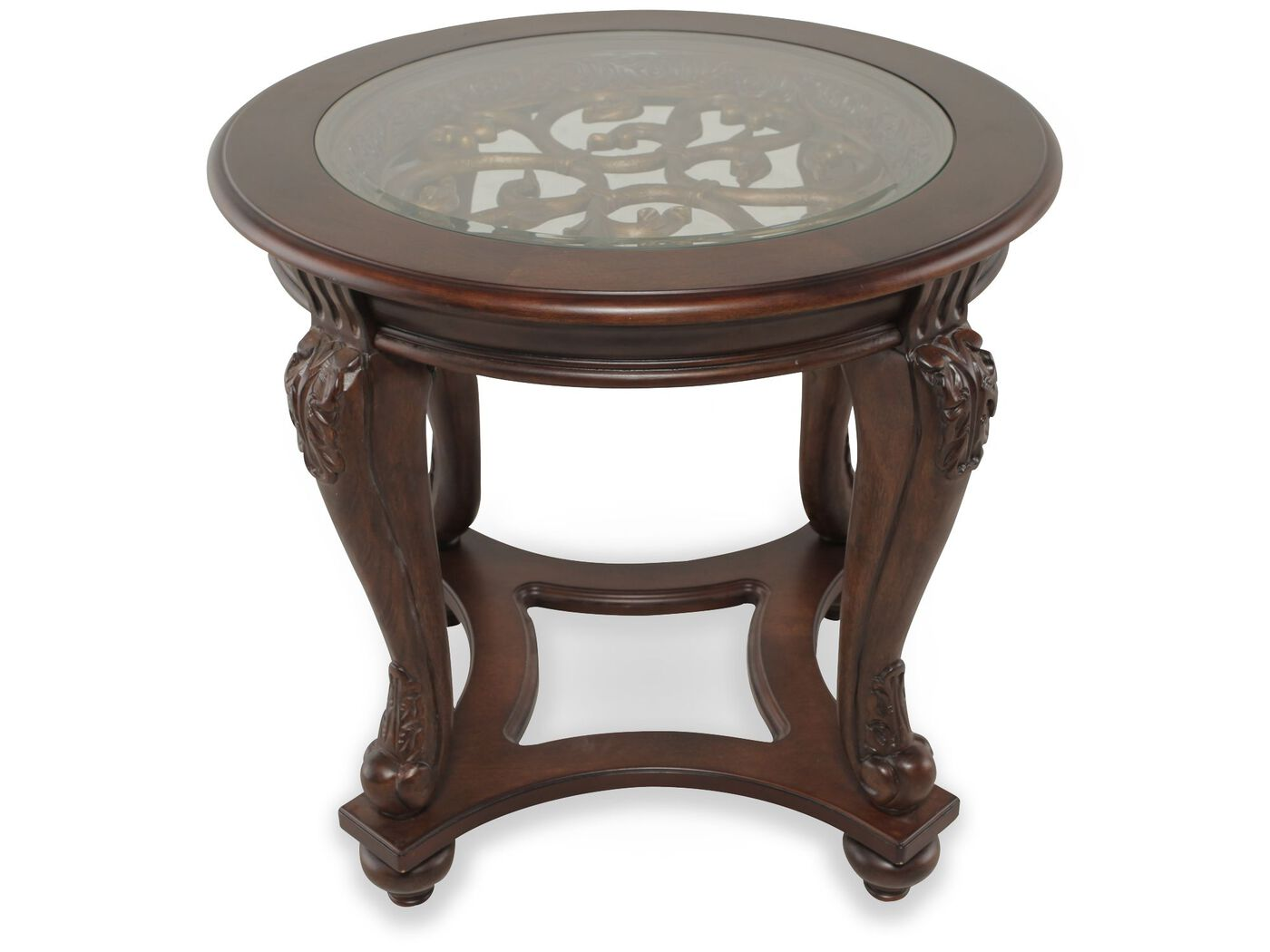 ashley norcastle round end table | mathis brothers furniture