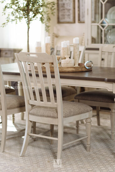 40'' Slat Back Arm Chair in Vintage Linen