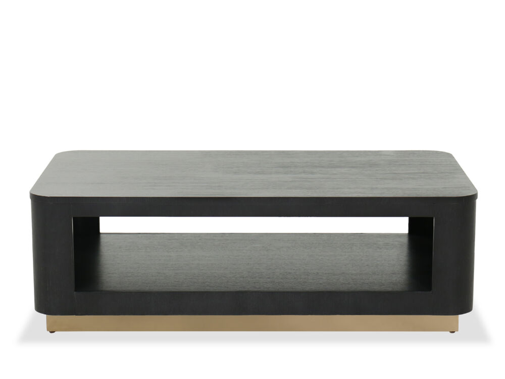 Mid Century Modern 50 Cocktail Table In Black Mathis Brothers Furniture