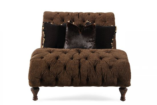 Cheetah-Print Contemporary Chaise in Brown