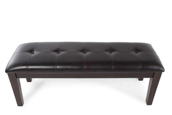 Button-Tufted 50'' Dining Bench in Dark Brown