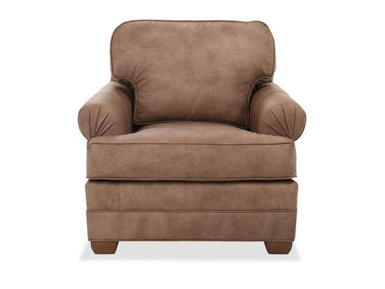 """41"""" Casual Leather Chair in Brown"""