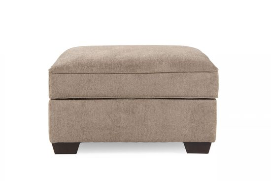 "Contemporary 37"" Storage Ottoman in Mushroom"