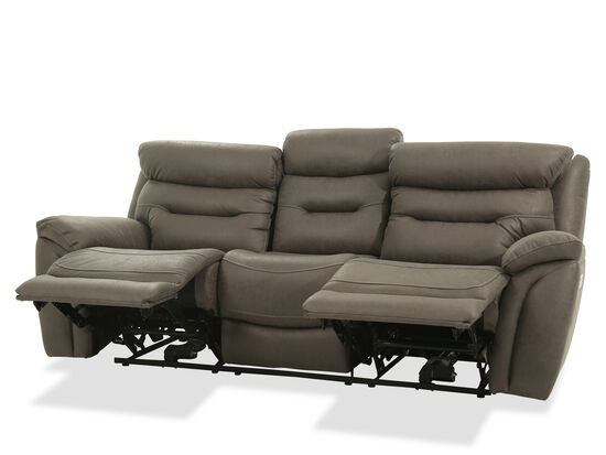 "Casual 90"" Power Reclining Sofa in Gray"