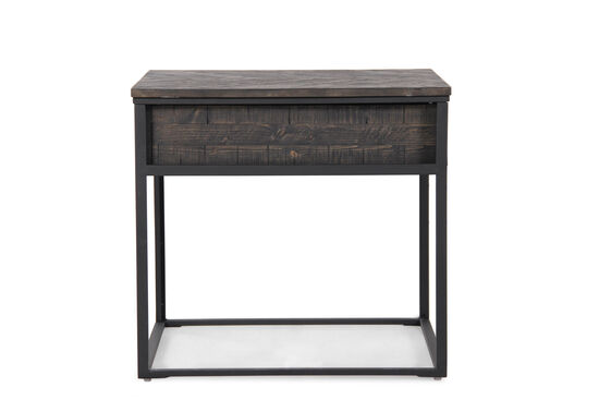 One-Drawer Contemporary End Tablein Black