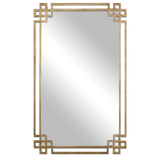 "37"" Rectangular Accent Mirror in Gold"