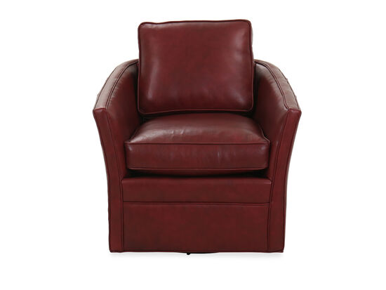 Leather 32.5'' Swivel Tub Chair in Red