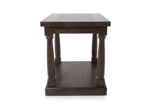Contemporary Planked Top One-Shelf End Table in Dark Espresso