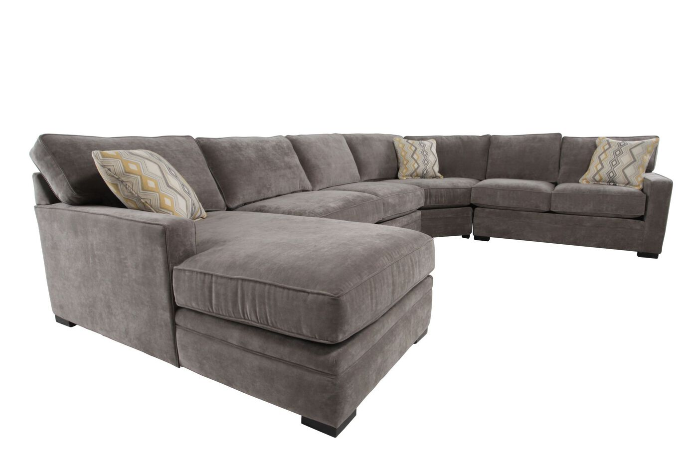 Four Piece Contemporary 150 Sectional In Hazelnut