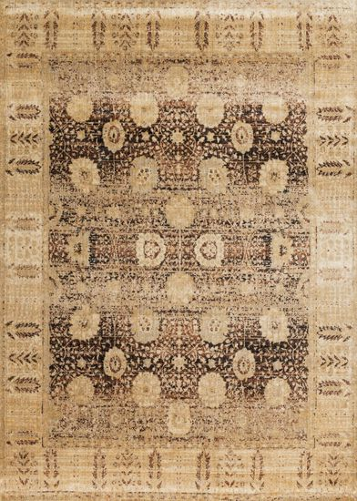 """Transitional 2'-7""""x4' Rug in Coffee/Gold"""