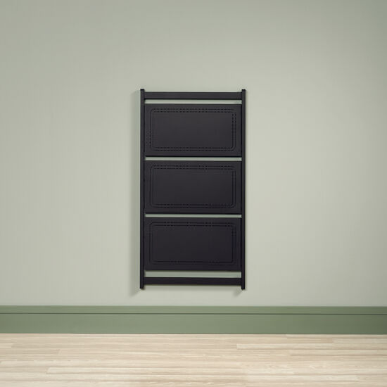 Contemporary Folding Anywhere Shelf in Black