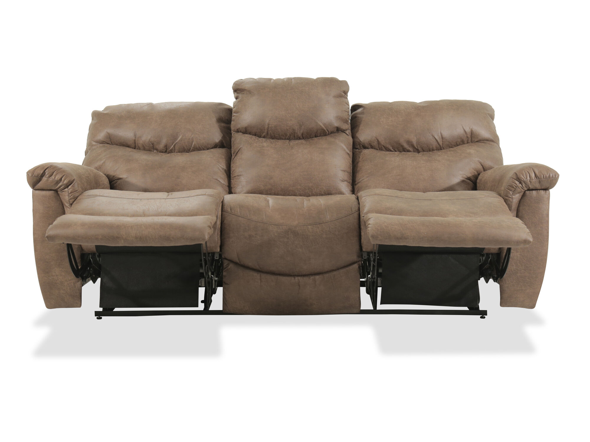 Casual 87 Quot Power Reclining Sofa In Brown Mathis Brothers