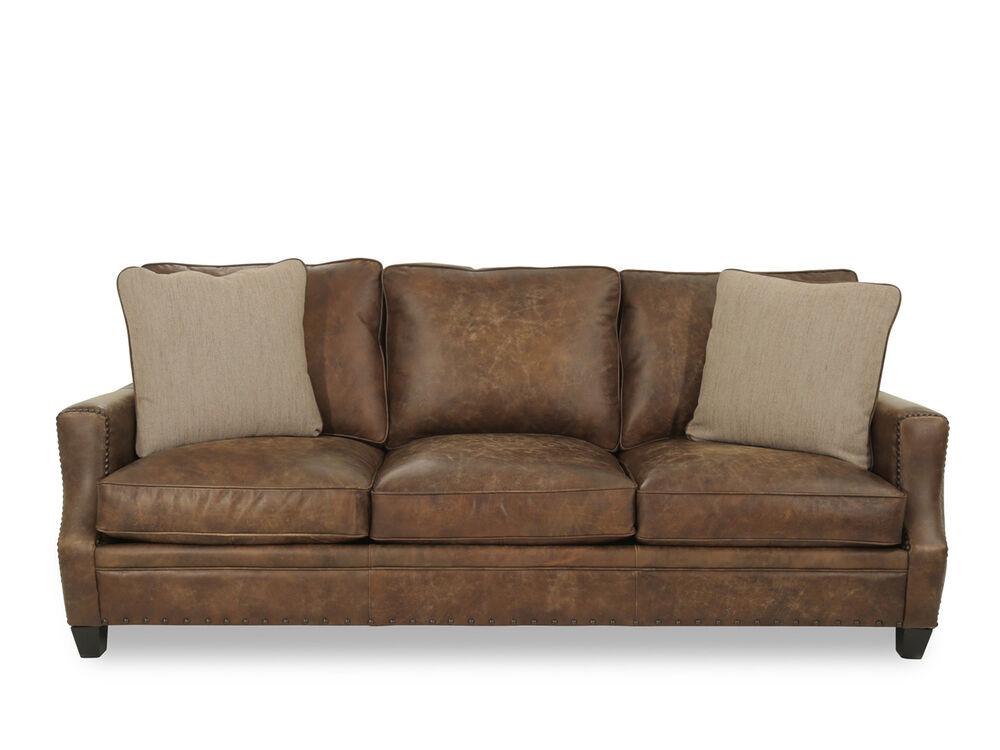 Leather Sofa In Mocha