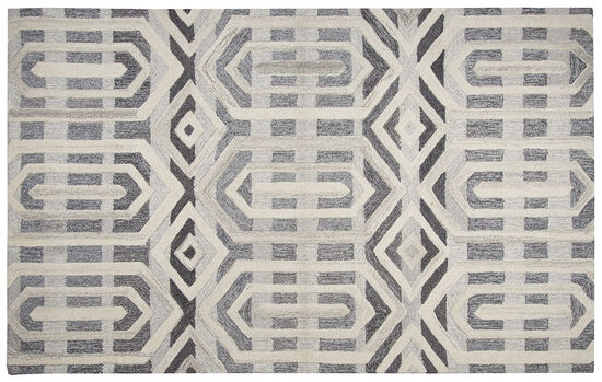 Transitional Hand-Tufted 5'  x  8' Rectangle Rug in Gray