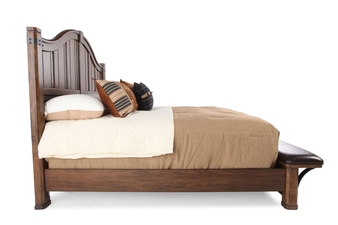 Traditional Planked Arch Panel Bed In Brown Mathis Brothers Furniture
