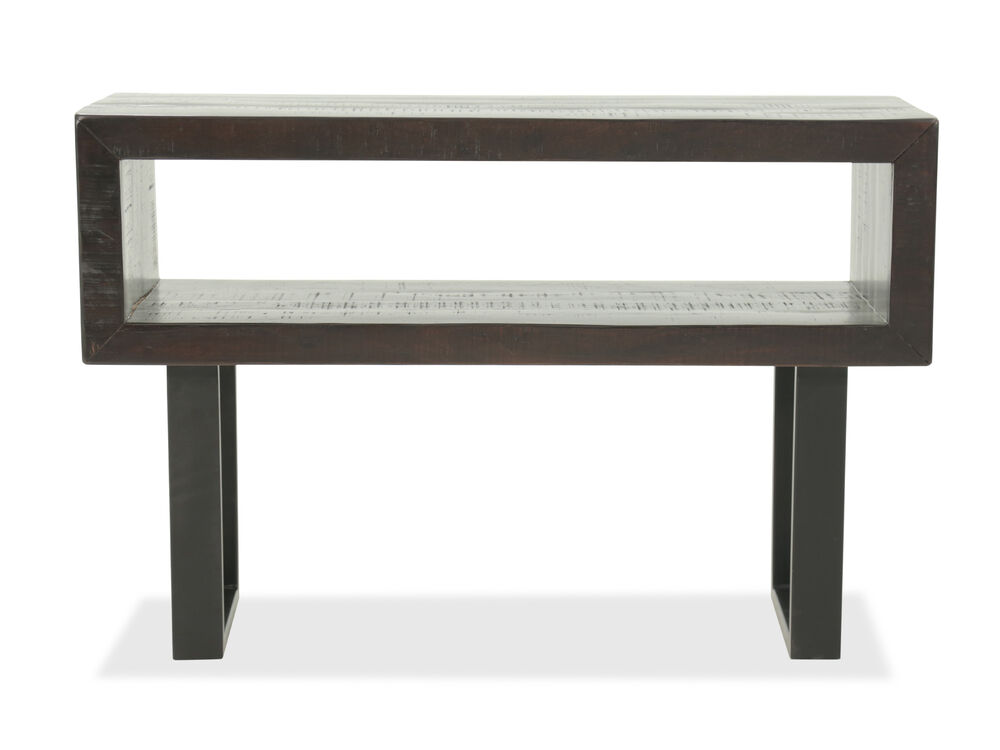 Rectangular Mid-Century Modern Sofa Table in Brown | Mathis Brothers ...