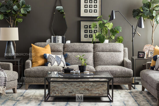 Two-Piece Modern Nesting Tables in Graphite