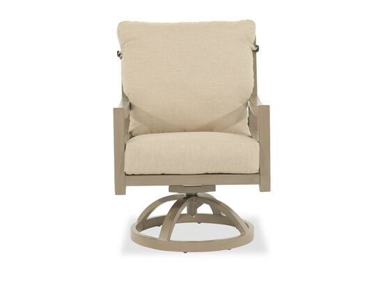 Casual Swivel Dining Chair in Beige