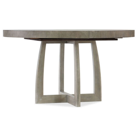 """Affinity 48"""" Round Pedestal Dining Table W/1-18"""" Leaf in Gray"""