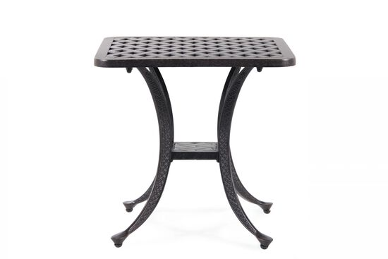 Lattice Patterned Aluminum End Table in Brown