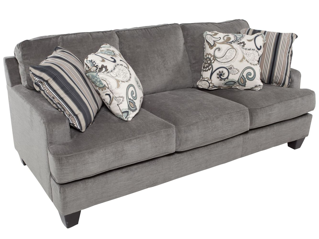 Low Profile Contemporary 61 Quot Sofa In Steel Blue Mathis