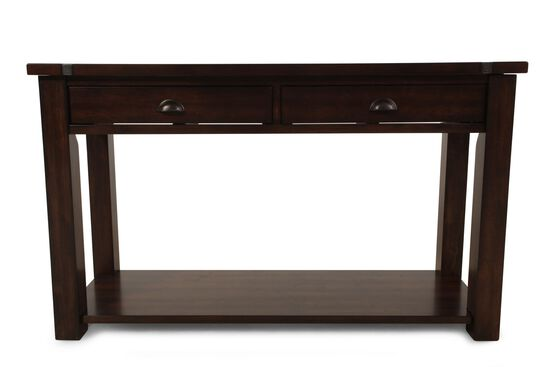 Two-Drawer Contemporary Sofa Table in Brown