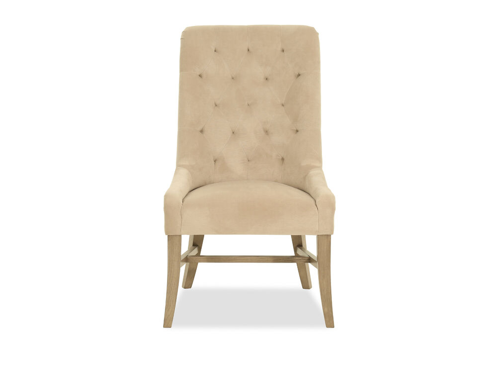 Diamond Tufted Contemporary Dining Chair In Brown Mathis Brothers Furniture
