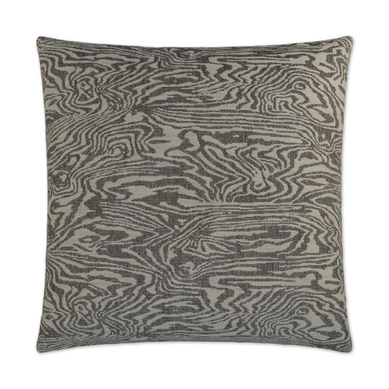 Zebrawood Pillow in Charcoal Gray